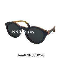 cool round grey skateboard wooden sunglasses