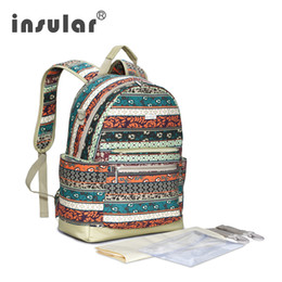 Wholesale Bohemia Style Canvas Diaper Backpack Multifunctional Designer Baby Dipaer Bag Backpack