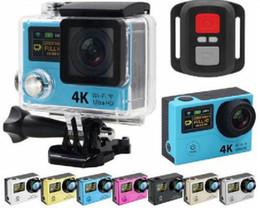 """Acheter en ligne Caméscopes mini--Ultra HD 4K H3R caméras d'action WIFI 2.4G télécommande Mini caméra de sport caméscopes vidéo 1080P 170 lentille 2 """"LCD Helmet Cam"""