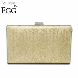 Les femmes d'embrayage formelle en Ligne-Vente en gros- Femmes de la majesté dames formelles noir satin Totems dentelle sacs de soirée Metal embrayages Wedding Prom Shoulder Handbags Clutch Purse