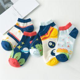 Wholesale Spring and summer new socks personality cartoon cotton women s socks fashion happy planet ship socks