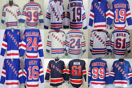 Wholesale Men s New York Rangers Jerseys Gretzky Richards Callahan Nash Avery White L Blue D Blue Ice Hockey Jerseys