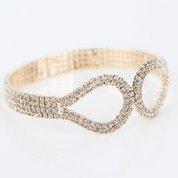 New Crystal Gold Color Austrian Crystal Bracelets & Bangle For Women Fashion Jewelry for girl's gift Wholesale