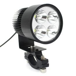 LEEWA 12V-85V Universal Motorcycle E-bike 20W LED Modified Headlight Lamp Black SKU:1710