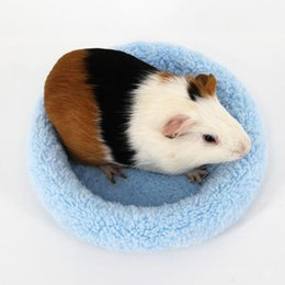 Wholesale Pet Bed Holland Mouse Mat Cushion Cotton Velvet Small Mattress Chinchilla Warm Thick Pad hamster Hedgehog Mini Pad Small Bed H