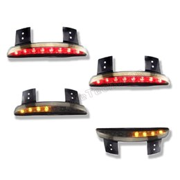 Red and Smoke Chopped Fender Edge LED Tail Light Turn Signals For Harley 883