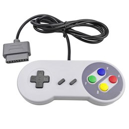 Joystick usb en venta-Juego de 10 teclas Game 16 Bit Controlador Gamepad Pad Joystick para SFC Super Nintendo SNES Sistema de consola de control de la almohadilla al por mayor