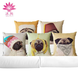 muchun Brand Funny Dog Christmas Linen Pillow Cover Square Halloween Party 45*45cm Home Textiles Decorative Pillow Case