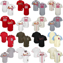 Free Shipping Men's Custom any name number St. Louis Cardinals blank Baseball Jersey Flexbase Collection For Sale stitched size S-5XL