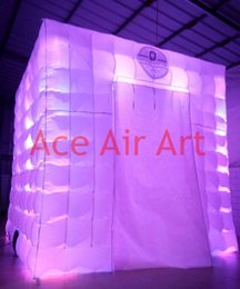 inflatable photo booth 2 doors cover cloth inflatable bar tent with 16 changing colorful lighting inflatable digital photo booth for sale