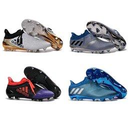 Wholesale 2017 Adidas X Purechaos FG AG Football Shoes Men Soccer Cleats Hot Sale Colors Soccer Shoes Cheap Soccer Boots Size