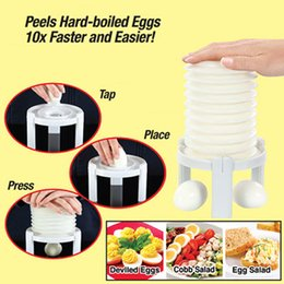 Wholesale NewEggs Tractor Magic Amazing Instantly Egg Shell Remove Peeler Kitchen Accessories Tools Cleaning Cooked Egg Shell Machine