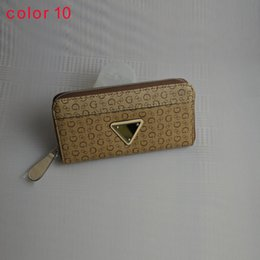 Wholesale fashion women PU leather wallet long zipper purse European style new arrival color10