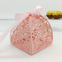 Wholesale Wedding favor candy box mini laser engraved gift box party favors creative chocolate box can put PC FERRERO ROCHER