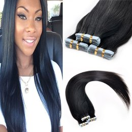 Cheap Full Head Tape In Human Hair Extensions 8A Grade Virgin Brazilian Remy Skin Weft 16-24 inch Straight 60pcs Per Lot 15 Colors