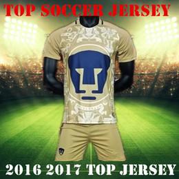 Wholesale Best Mexico club Pumas UNAM Home Gold Away blue soccer jerseys kit camisetas de futbol Cougar Pumas UNAM football Shirts