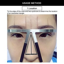 Three-Point Positioning Makeup Permanent Eyebrow Balance Ruler