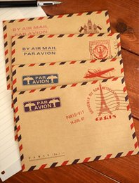 Venta al por mayor 20 PC / papel de escritorio retro lindo de los efectos de escritorio de Kawaii de la mini de la vendimia de Kraft del papel de Kraft de la vendimia de la porción para el sello de la cera de las tarjetas paper envelope stationery for sale desde papelería sobre de papel proveedores