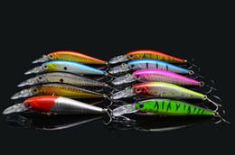 Счастливчики приманок Онлайн-Рыболовные снасти пластиковых рыболовные приманки Minow Lucky Craft 11 шт Цвет крючок карп Прикормка для рыбалки 9.5g10.5cm Воблеры Fish 3D Eyes