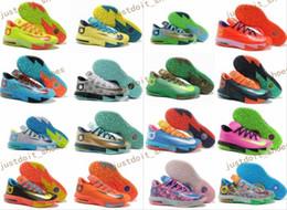 Kd chaussures de vente mens en Ligne-2017 Chaussures de basket-ball de Kevin KD 6 Elite d'hommes de vente chaude Ce que la tante de perruque de Durant BHM All Star d'interchangeable Sneakers Eur 40-46 Taille nous 7-12