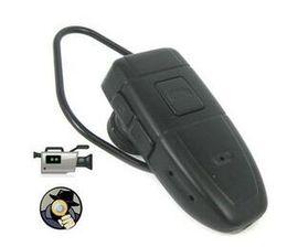 Descuento bluetooth auriculares cámara espía SPY Bluetooth auriculares cámara de 4 GB HD Bluetooth Headset Cámara cámara CCTV ocultos mini videocámara en caja al por menor droshipping