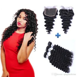 Best Selling Hair 7A Unprocessed Brazilian Virgin Hair Bundles 3Pcs with 4x4 Lace Closure Free Part Virgin Remy Cheap Hair Weave Weft