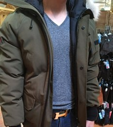 Wholesale Winter Down Hooded Jackets Bomber Collar With Zippers Jacket Men Chilliwackbomber Warm Coat Canada Outdoor Coats High Quality