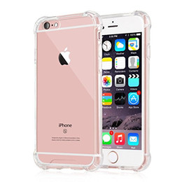 Crystal Clear iPhone 6 6s IPone 7 plus Case New Cover Case Shock Absorption with Transparent Hard Plastic Back Plate PC