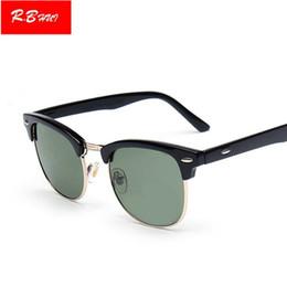Espejo de cristal clásico en venta-Las gafas de sol clásicas del club de la aleación de las mujeres clásicas de las mujeres de los hombres del RAY diseñan las gafas de sol dominantes del espejo de las prohibiciones Eyewear UV400 50m m