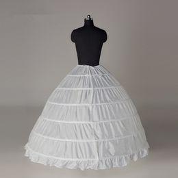 Super Cheap Ball Gown 6 Hoops Petticoat Wedding Slip Crinoline Bridal Underskirt Layers Slips Skirts For Quinceanera Wedding Dress CPA2016