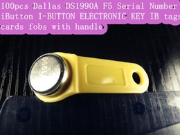 Wholesale Dallas DS1990A DS1990 F5 Serial Number iButton I Button electronic key IB tag cards fobs w handle