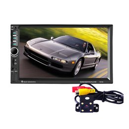Wholesale Universal Din Car DVD Double Din Car Video Player Touch Screen Car Audio Player Support Bleutooth MP5 FM Radio Rearview USB Aux