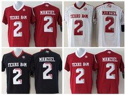 Johnny maillots manziel à vendre-2017 enfants Texas Aggies College chandails # 2 Johnny Manziel jeunes garçons enfants cousus maillots de football