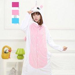 Wholesale Anime Hoodie Adult Unicorn Pajamas Animal Pyjamas Men Women Animate Unicorn Costume Cosplay Blue Pink Unicorn Onesie