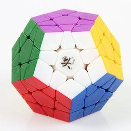Descuento dayan juguete DaYan Megaminx Cubo mágico sin etiqueta cubo de juguete de velocidad lisa cubo Cubo Para niños juguete educativo niñas