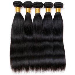 El pelo malasio de la Virgen de Vinsteen recto 5 agrupa la alta calidad de las extensiones del pelo humano de 100g / pc puede ser teñido Ningún enredo sin procesar El envío libre desde teñidos haces de pelo de malasia proveedores