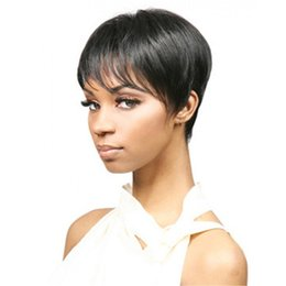 Short Bob Cheap Wig Straight Synthetic Hair Wigs Full Bang Black for Women Heat Resistant Synthetic Wig