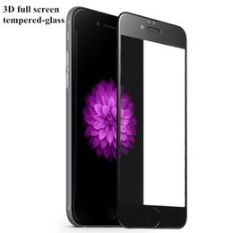 3D Curved Full Screen Tempered Glass For iPhone7 Plus iphone 6s Plus With Retail Package 9H Hardness