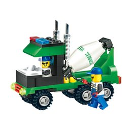 Wholesale Coll New Arrival Kinds Of Engineering Vehicles Building Blocks Toy Truck Mixer Bulldozer Roller Construction Bricks Gift