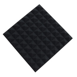 Brand New 5 Pack 19.6''x19.6''x1.9'' Black Pyramid Shaped Soundproofing Acoustic Studio Foam Panel Insulation Materials for Echo Absorption