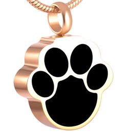 IJD8155 The Paw Memorial Urn Ashes Jewelry Female Male,New Design 316L Stainless Steel Cremation Pendant Necklace Women Accessories Hot Sale