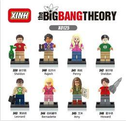 Wholesale XINH The Big Bang Theory set Minifigures Sheldon Leonard Penny Howard Rajesh Amy Bernadette Building Blocks Models Brick Christmas Toys