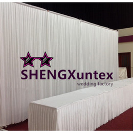 Cheapest White Color Wedding Backdrop Curtain \ Stage Background
