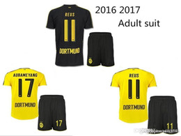 1617 Wholesale free shipping Jerseys 2016 2017 Dortmund adult Coat + pants Jerseys REUS 8 GUNDOGAN 22 PULISC Borussia Dortmund jersey