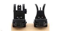 Folding #71L-F R Set Front & Rear Flip-up Back-up Tactical Sites Sights BK DE OD