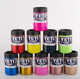 Wholesale 2016 New colors oz Stainless Steel Colster can Yeti Coolers Rambler Colster YETI Cars Beer Mug Insulated Koozie oz Cups Free Ship