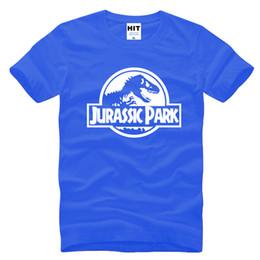 Wholesale 2017 New Fashion Film Jurassic Period Park Jurassic Park LOGO Creative Mens T shirt Cotton Men s Short Sleeve