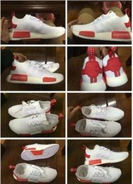 Wholesale Supreme x NMD R1 PK white red with box