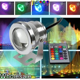 Wholesale Colors W DC V RGB LED Underwater Fountain Light LM Swimming Pool Pond Tank Aquarium LED Light Lamp IP68 Waterproof