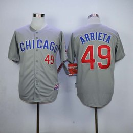 2016 Majestic #49 Jake Arrieta Jersey Gray White Blue Green Cream Stitched 1929 1942 1988 Jake Arrieta Baseball Jersey free shipping